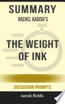 Summary: Rachel Kadish's The Weight of Ink
