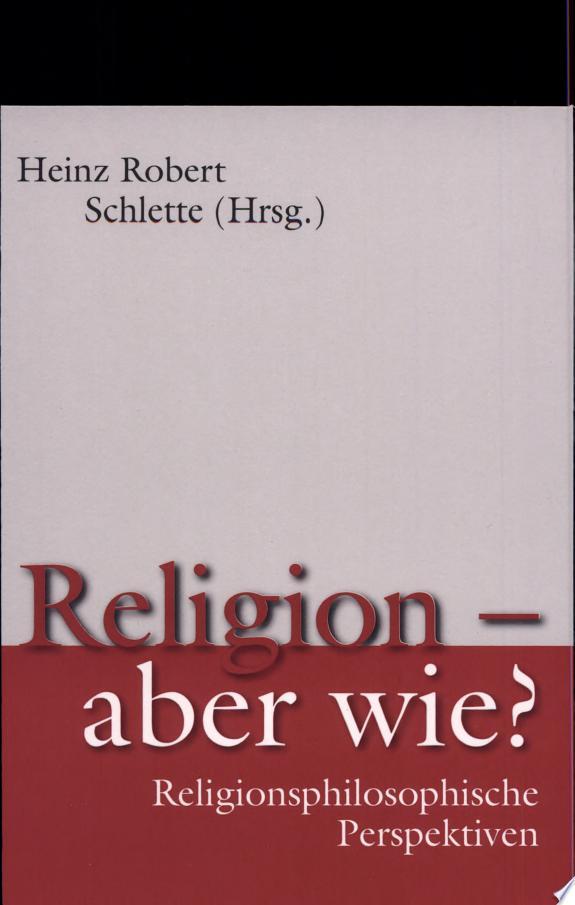 Religion-- aber wie?