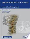 Spine and Spinal Cord Trauma Book