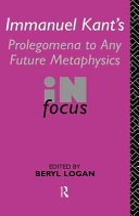 Immanuel Kant s Prolegomena to Any Future Metaphysics