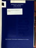 Annual Report of the Public Utilities Commission of Ohio