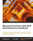 Microsoft Forefront Uag 2010 Administrator's Handbook Book