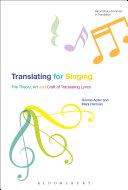 Pdf Translating For Singing Telecharger