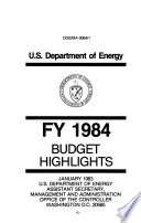 Energy And Water Development Appropriations For 1984