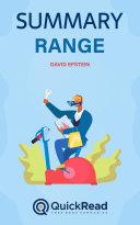 Range by David Epstein (Summary) Pdf/ePub eBook