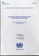 Report of the Trade and Development Board on Its      pre sessional  Executive Session