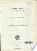Sanitary Surveys of Coal-mining, Metal-mining, and Smelter Town of Utah