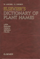 Elsevier s Dictionary of Plant Names