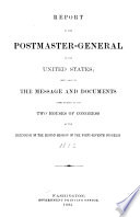 Annual Report of the Postmaster General Book