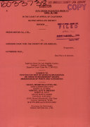 California Court Of Appeal 2nd Appellate District Records And Briefs