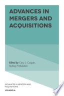Advances in Mergers and Acquisitions Book