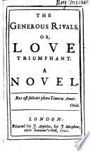 The Generous Rivals Or Love Triumphant A Novel