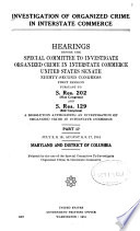 Investigation of Organized Crime in Interstate Commerce