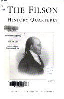 The Filson Club History Quarterly