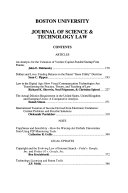 Boston University Journal of Science   Technology Law