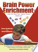 Brain Power Enrichment  Level Two  Book Two   Teacher Version Grades 6   8