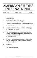 American Studies International
