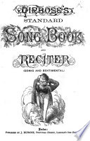 Diprose s Standard Song Book and Reciter   Comic and sentimental