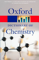Cover of Oxford Dictionary of Chemistry