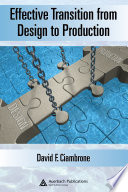Effective Transition from Design to Production Book