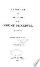 Reports of Decisions on the Code of Procedure  new Series