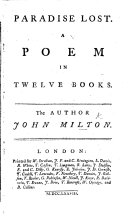 Paradise Lost. A poem, etc. (The Life of Milton. By Dr. Newton.).