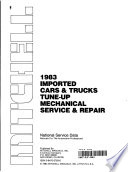 1983 imported cars & trucks tune-up mechanical service & repair