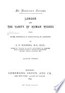 London  and The Vanity of Human Wishes