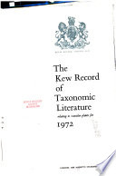 The Kew Record of Taxonomic Literature Relating to Vascular Plants for ...