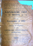 Republican Text Book For The Campaign Of