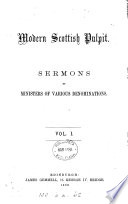 Modern Scottish pulpit, sermons by ministers of various denominations