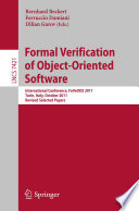 Formal Verification of Object Oriented Software Book
