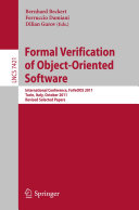 Formal Verification of Object Oriented Software