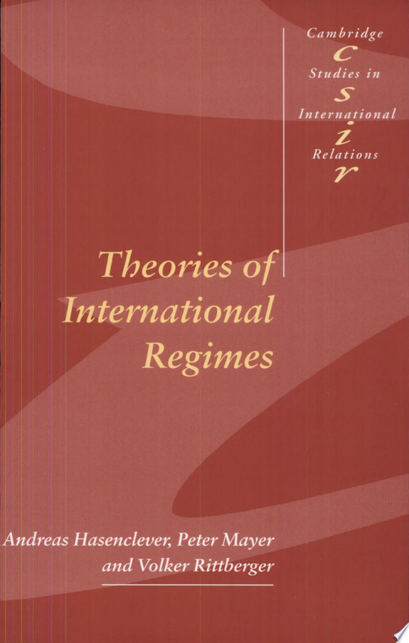 Theories of International Regimes