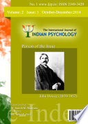 The International Journal Of Indian Psychology Volume 2 Issue 1 No 1