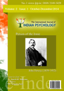 Pdf The International Journal of Indian Psychology, Volume 2, Issue 1, No. 1 Telecharger