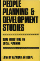People Planning and Development Studies