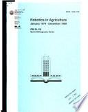 Robotics in Agriculture Book
