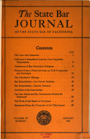 The State Bar Journal of the State Bar of California