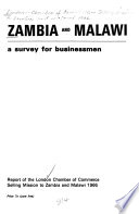 Zambia and Malawi: a survey for businessmen