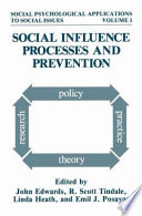 Social Influence Processes And Prevention Book PDF