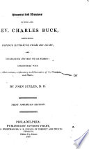 Memoirs and Remains of the Late Rev. Charles Buck