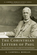 The Corinthian Letters of Paul