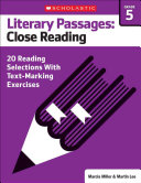 Literary Passages for Text Marking   Close Reading  Grade 5