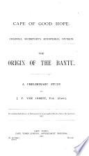The Origin of the Bantu