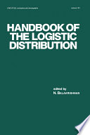 Handbook of the Logistic Distribution