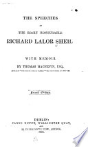 The Speeches of Richard Lalor Sheil