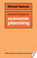Selected Essays on Economic Planning Book