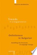 Definiteness in Bulgarian Book