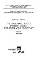The Early Judaeo Persian Tafs  rs of Ezekiel Book
